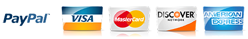 Credit card logos and Paypal